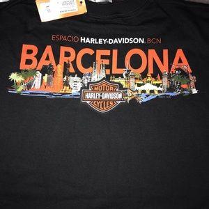 Harley Davidson Motorcycles Barcelona T shirt L